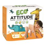 Attitude -  Eco-friendly Baby Diapers Maxi Size 4 31 lb, 26 diapers 0626232164015