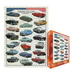 Eurographics -  American Cars Of The Fifties Jigsaw Puzzle 0628136638708