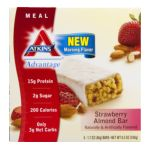 Atkins -  Advantage Strawberry Almond Bar 0637480025904