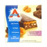 Atkins -  Advantage Bar Caramel Fudge Brownie 5 bars 0637480035033