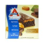 Atkins - Advantage Bar Caramel Double Chocolate Crunch 5 bars 0637480035057  / UPC 637480035057
