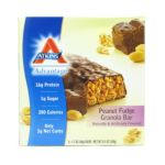 Atkins - Advantage Bar Peanut Fudge Granola 5 bars 0637480045087  / UPC 637480045087