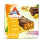 Atkins -  Day Break Crisp Bar Peanut Butter Fudge Crisp 5 bars 0637480055024