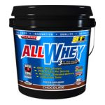 Allmax nutrition - Allwhey 3 Stage Whey Protein Matrix Chocolate 5 lb 0665553121161  / UPC 665553121161