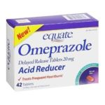 Equate -  Omeprazole Acid Reducer Delayed Release Tablets Box 20.6 mg lb lb, 3.69 inxin2.27 inxin4.73 in,42 count 0681131024167