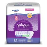 Equate -  Options Incontinence Pads Moderate Long 0681131034159