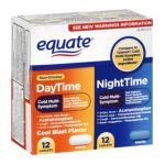 Equate -  Cold Multi-symptom Daytime Nighttime Value Pack Pain Reliever Fever Reducer 24 caplets 0681131187190