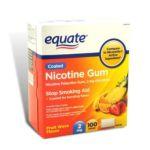 Equate -  Nicotine Gum Fruit Flavor Stop Smoking Aid 2 Mg lb lb lb lb, 5.25 inxin2.75 inxin4.375 in,100 count 0681131187282