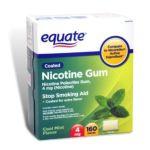 Equate -  Nicotine Gum Cool Mint Flavor Stop Smoking Aid 4 Mg lb lb lb lb, 2.375 inxin3 inxin4.875 in,160 count 0681131187343