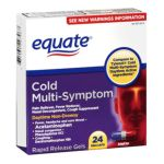 Equate -  Cold Multi-symptom Daytime Gelcaps Pain Reliever Fever Reducer 0681131297967