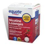 Equate -  Nicotine Lozenge Stop Smoking Aid Cherry Flavor 2 Mg lb lb, 3.25 inxin3.188 inxin4.375 in,108 count 0681131298001