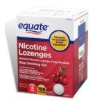 Equate -  Nicotine Lozenge Stop Smoking Aid Cherry Flavor Lozenges 4 mg lb lb, 3.25 inxin3.188 inxin4.375 in,108 count 0681131298018