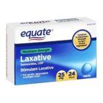 Equate -  Laxative Maximum Strength Sennosides 24 Pills Compare To Ex-lax 25 mg 0681131699563