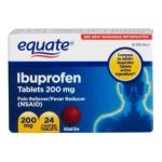 Equate -  Ibuprofen Pain Reliever Fever Reduce 24 Coated Tablets Compare To Advil 200 mg,1 count 0681131700085