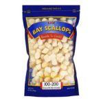 Great Value -  100-200 Scallops Per Lb Raw Bay Scallops 0681131714778