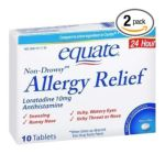 Equate -  Allergy Relief Loratadine 10 Mg, 10 tablet,1 count 0681131739276