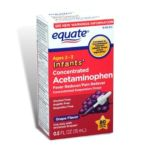 Equate -  Acetaminophen Fever Reducer Pain Reliever Concentrated Infants' Drops Grape Flavor 1 0681131779180