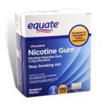 Equate -  Nicotine Gum Polacrilex Stop Smoking Aid Original Flavor 2 mg lb lb, 2.375 inxin3 inxin4.875 in,170 count 0681131779241