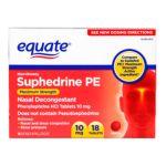 Equate -  Non-drowsy Suphedrine Pe 0681131837002
