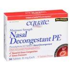 Equate -  Maximum Strength Non-drowsy Nasal Decongestant Pe 0681131837019