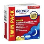 Equate -  Pain Reliever Pm lb lb, 4.5 inxin3.5 inxin4.5 in,100 count 0681131837064