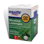 Equate -  Nicotine Lozenge Stop Smoking Aid Mint Flavor 108 Lozenges 4 mg lb lb, 3.25 inxin3.188 inxin4.375 in,108 count 0681131837187