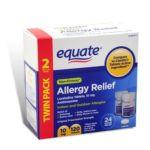 Equate -  Antihistamine Allergy Relief,120 count 0681131837361