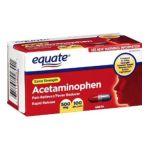 Equate -  Acetaminophen Pain Reliever Rapid Release Gels 100 Gelcaps Comprate To Tylenol 500 mg 0681131928441