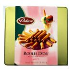 Delacre -  Exquisite European Biscuits Rich Thin Crepe Rolled Into A Delicate Flute Tin Box Net Weight 0683866196096