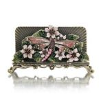 Welforth -  Pink With Magenta Stones Business Card Holder Model No. H-199 0689851401992