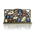 Welforth -  Multi- Stone Business Card Holder Model No. H-298 0689851402982