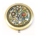 Welforth -  Brass Mirror Compact Model No. M-108 0689851901089