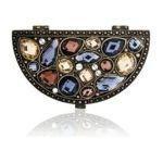 Welforth -  Half Mirror Compact With Multi-color Stones Model No. M-115 0689851901157