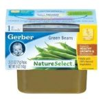 Gerber - 1st Foods 100% Natural Nautreselect Baby Food Green Beans 2 Containers 0717851260223  / UPC 717851260223