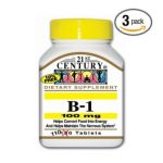 21st Century -   None Vitamin B-1 100 mg, 100 tablet,1 count 0740985211519 UPC 74098521151