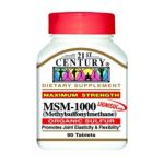 21st Century -   None Msm Tablets 1000 Mg,90 count 0740985217207 UPC 74098521720