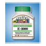 21st Century -   None Natural Vitamin E-1000 55 softgels 0740985223390 UPC 74098522339