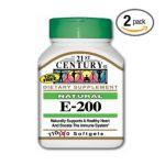 21st Century -   None Natural Vitamin E-200 110 softgels 0740985223475 UPC 74098522347
