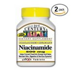 21st Century -  Niacinamide 500 mg, 110 tablet,1 count 0740985225509