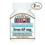 21st Century -   None Iron {element} Tabs 1x100 Mfg 65 mg,100 count 0740985226704 UPC 74098522670