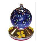 Gardman Wild Bird -  Ball Hummingbird Feeder With Metal Base Blue 0745487057191