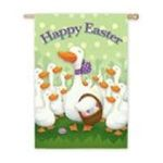 Evergreen Group -  Happy Easter Silk Reflections Garden Size Flag 0746851199172