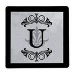 Evergreen Group -  Royal Monogram Glass Trivet - U 0746851378799