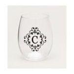 Evergreen Group -   Stemless Monogram Glass - C 0746851423673