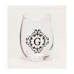 Evergreen Group -   Stemless Monogram Glass - G 0746851423703