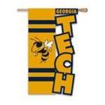 Evergreen Group -  Georgia Tech Applique Garden Flag 0746851497605