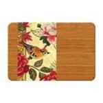 Evergreen Group -  Bird Study Wooden Cutting Board w/ Glass Inset 0746851548208