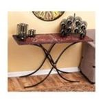 Evergreen Group -  Antique Red Scroll Console Table 0746851588006