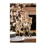 Evergreen Group -  Glass Candle Holder Set of 3 Silver 0746851606069