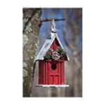 Evergreen Group -  Pinecone Holiday Birdhouse 0746851623202